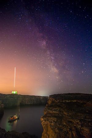 Milky Way over Crystal Lagoon