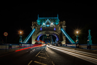 Comings and Goings over Tower Bridge, London.