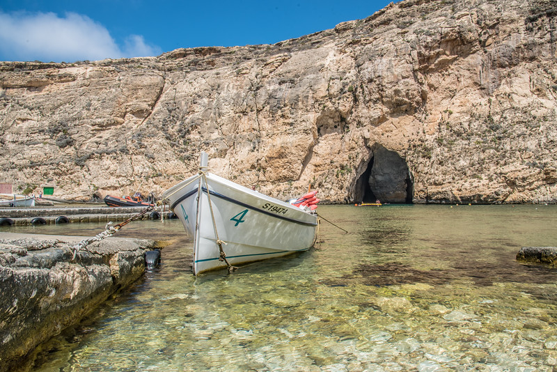 Boat to the caves