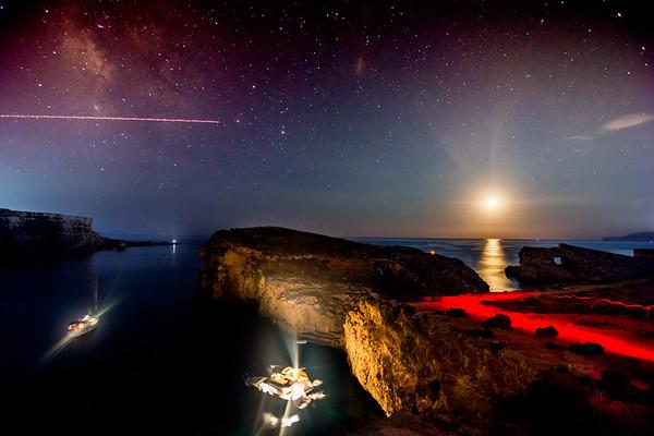 Crystal Lagoon Light Trails