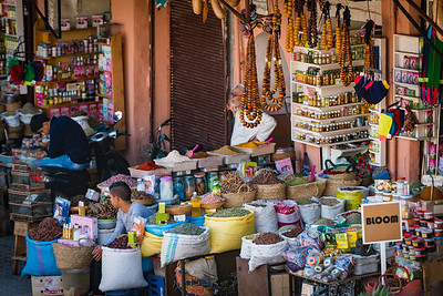Moroccan Souk Trading