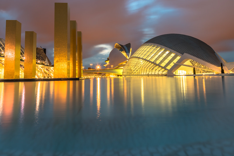 City of Arts and Science Valencia Reflections,