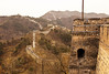 The Great Wall of China winds up and over the mountains near Mutianyu in Beijing Province.