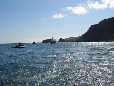 Boats at Anchor, Scorpion Harbor, Santa Cruz Island, CA