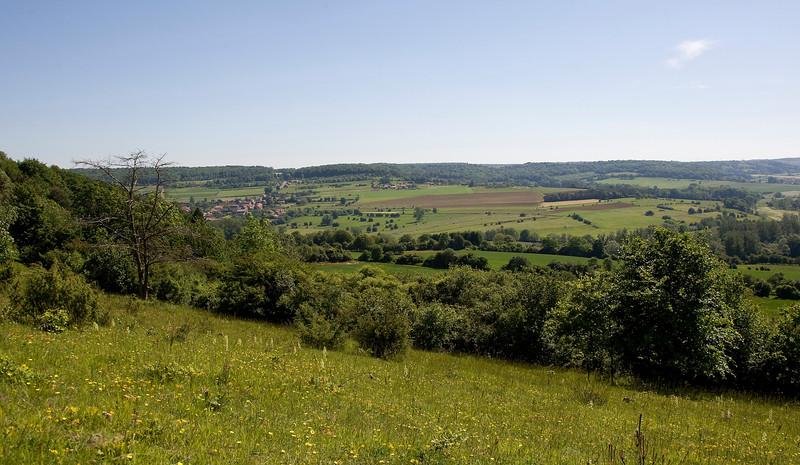 Torgny gezien vanaf de helling van Velosnes