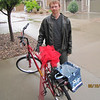 Readying Torrie's big, main gift. A new bike from Josh!