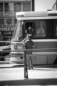 Chatting at the stoplight. - Copyright (c) 2013 Daniel Noe