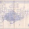 1963 June 15 Route Map Metropolitan Toronto Public Transportation Services published by the Toronto Transit Commission. Route map showing zone boundaries.