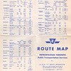 1963 June 15 Route Map Metropolitan Toronto Public Transportation Services published by the Toronto Transit Commission. Cover and hours of service.