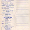 1963 June 15 Route Map Metropolitan Toronto Public Transportation Services published by the Toronto Transit Commission. Metro area fares, fares beyond metro, multi-zone fares, memoranda.