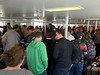 People on ferry from airport