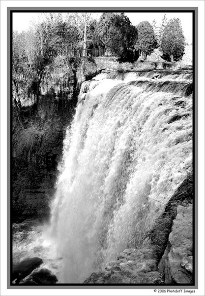 Websters Falls. West of Toronto, closer to Hamilton. <br /> B&W conversion