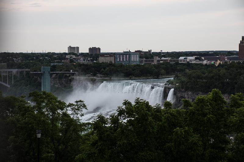 American Niagara Falls from the Marriott Fallsview Hotel.