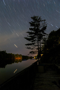 Star Trails Over Turtle Lake