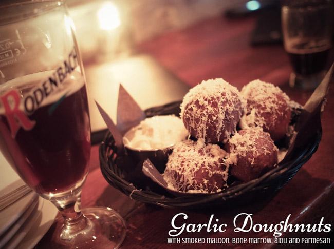 garlic doughnut