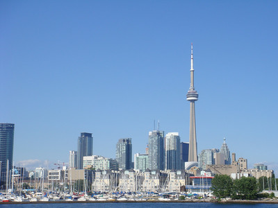 City of Toronto taken from the sailboat