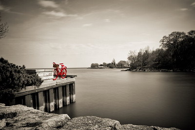 Red Bike by the Lake