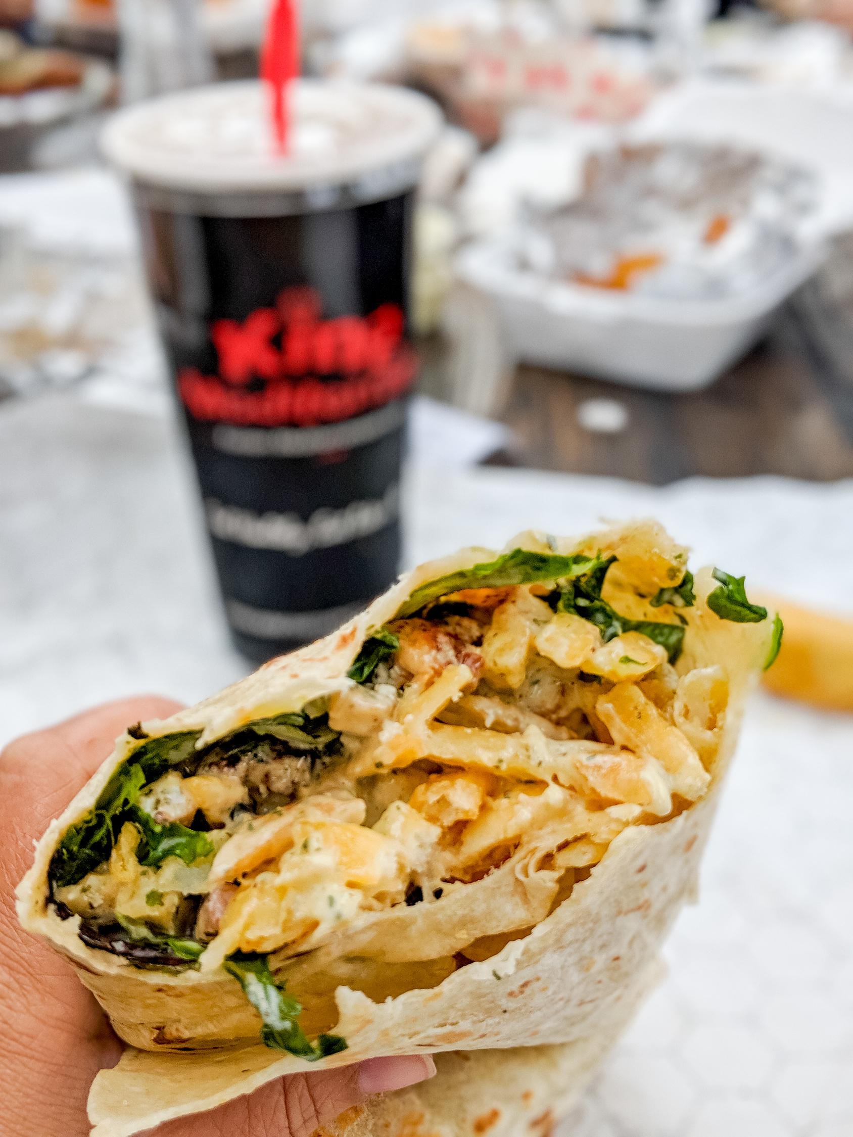 Street Chicken Burrito at King Mediterraneo