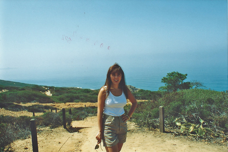 9/7/92 Overlooking Torrey Pines State Beach, Torrey Pines State Natural Reserve, San Diego County, CA