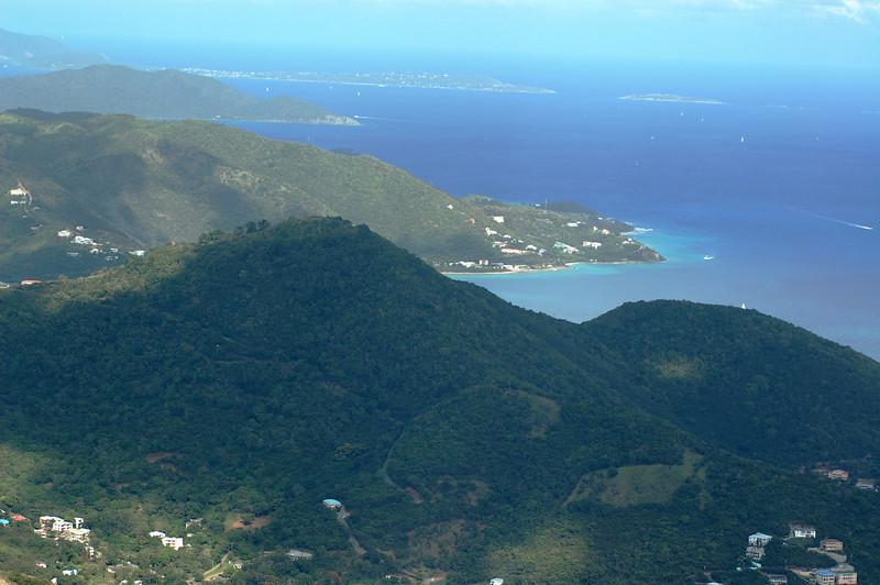 Looking down on Tortola