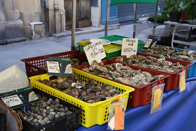 Fresh seafood on sale near to the harbour