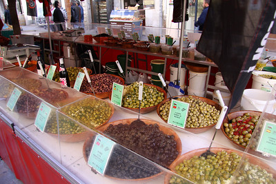 Variety of olives for sale