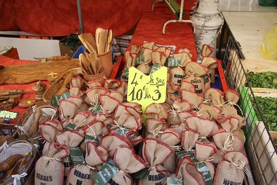 Sachets of fresh herbs for sale