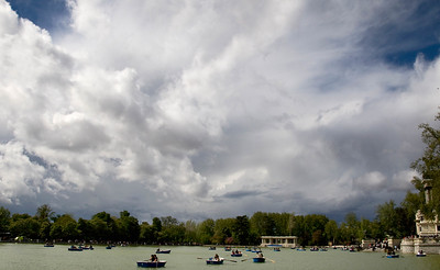 MADRID - Parque Del Retiro - Another one of those showery days of patchy light and awesome skies.