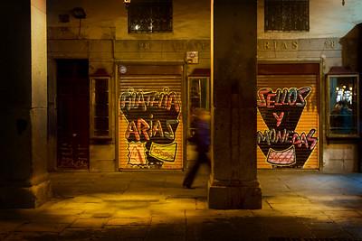 MADRID - Plaza Mayor - at night