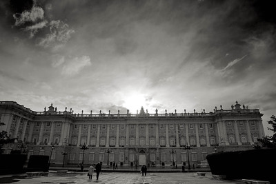 MADRID - Palacio Real -from Plaza de Orient: I'm a sucker for skies like these.