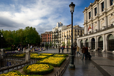 MADRID - Palacio Real -Plaza de Orient: A showery day with good patchy light
