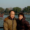 Hangzhou - Peter and Beverly on a tour boat on West Lake..