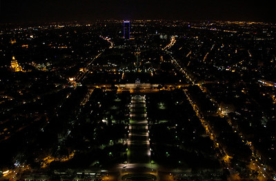 View from the top level of Eiffel.