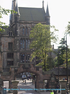 The main gate at the University of Glasgow
