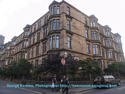 Victorian student apartments at the University of Glasgow