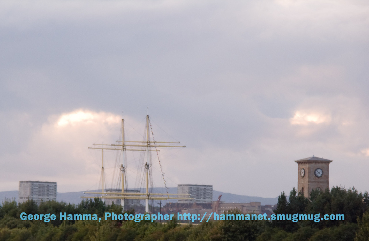 Tall ship on the River Clyde