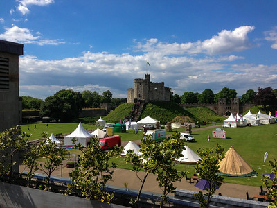 Touring Cardiff, Wales, July 2014