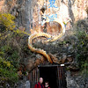 "Dali (大理) - Entrance to a cave named ""Heavenly Dragon.  Dali and the mountain range 點蒼山 were made famous by a martial arts novel and a TV series with the same name, 天龍八部 by 金庸."