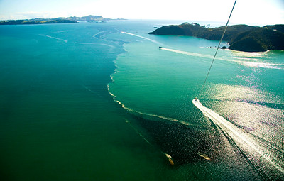 Parasailing, Aerial View, Tapeka Point, Bay of Islands
