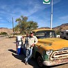 1957 chevrolet truck with photographer (taken by station owner).