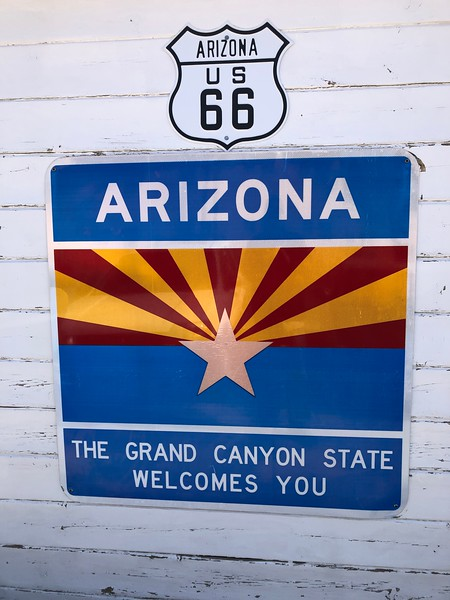 """Little remains of Old Route 66 in arizona -- less than 100 miles -- between ashfork and Kingman. Soon after its completion in the 1930s, it had gained lore as """"the mother road,"""" stretching some 2,500 miles betweeen chicago and santa monica. it has been supplanted by I-40. the swath through arizona was completed in 1984. its construction effectively paved over innumerable memories ... and stories. the few remaining retail stores stay alive selling souvenirs. this collection of images, shot in its entirety with an iphone,  serves as my own memento."""