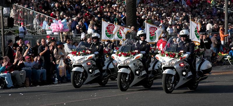Pasadena's Motorcycle Patrolmen