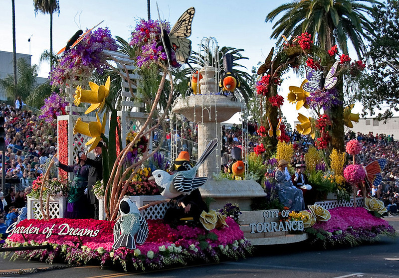 "City of Torrence, ""Garden of Dreams"" float."
