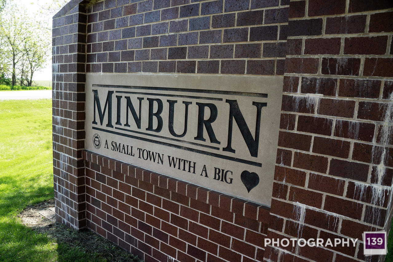 Minburn Town Sign