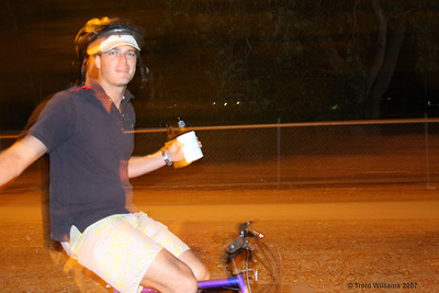 Luke on a bike. Townsville trip September 2007. Photo by Trent Williams
