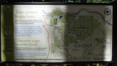 The map. We did the Puget Power Trail, Around the Lake trail, part of the Wetlands Trail and the Bus Line Trail!