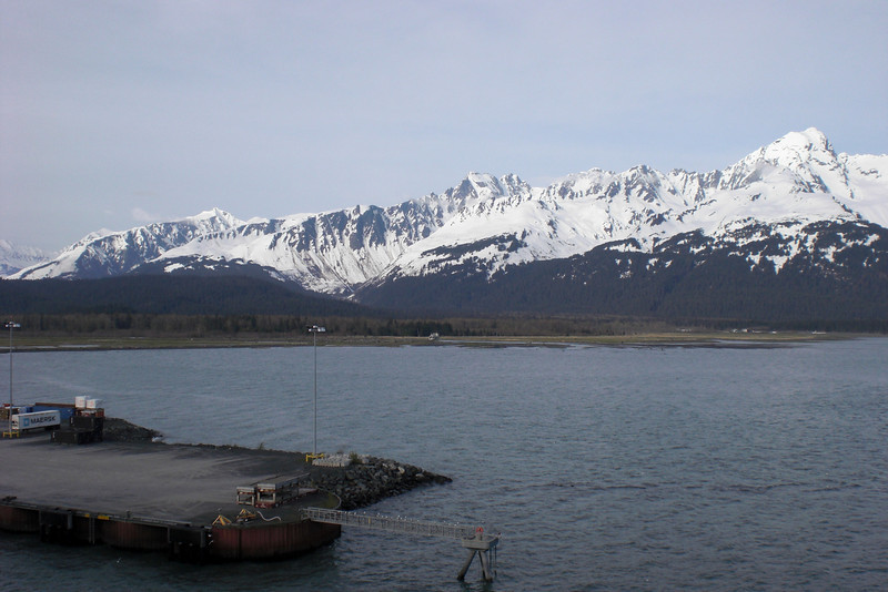 The view of Seward from our balcony room.
