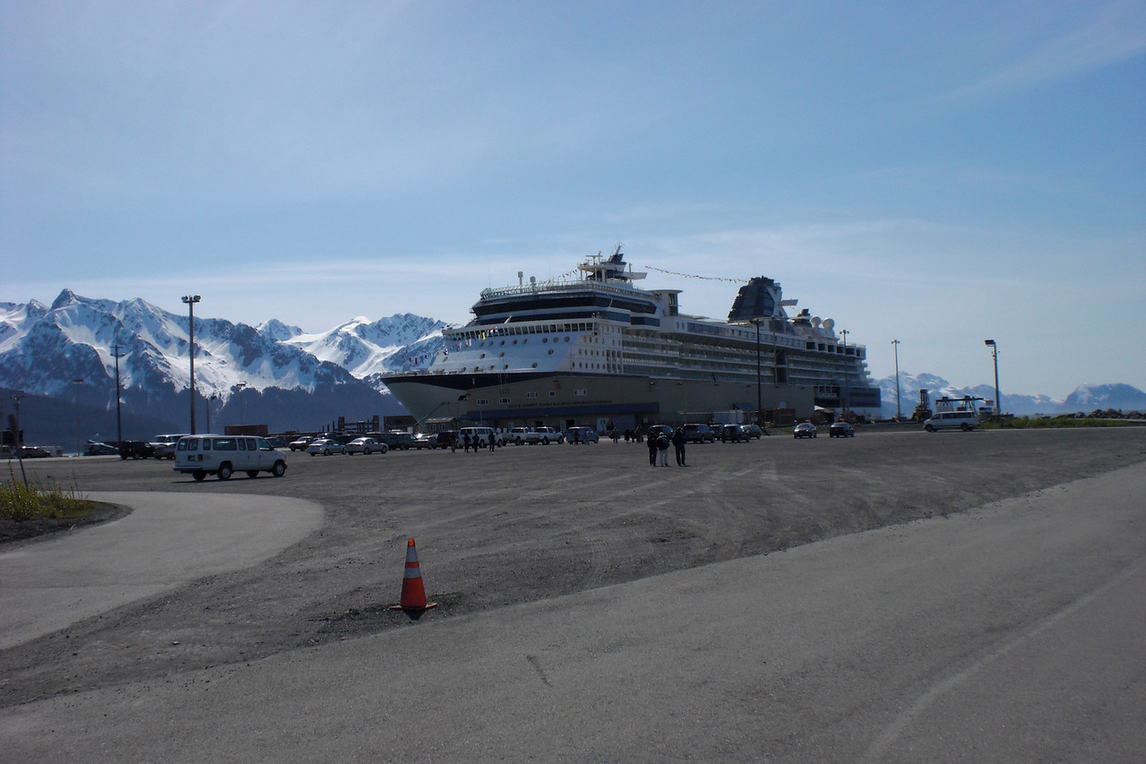 Our first view of the Celebrity Millenium. More than 900 feet long and can carry 900 crew and 2300 passengers.