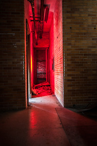 A bit of light painting in the very narrow hallway leading to the X-Ray chamber