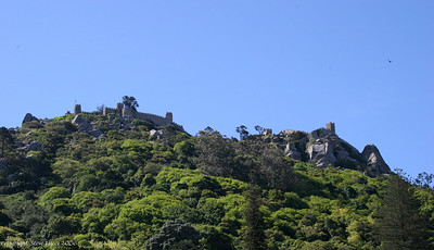 Moorish castle overlooking Sintra, Portugal.